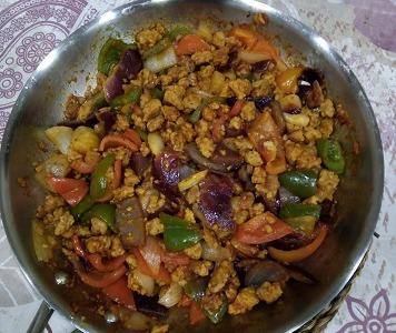 Fajitas con verduras y soja
